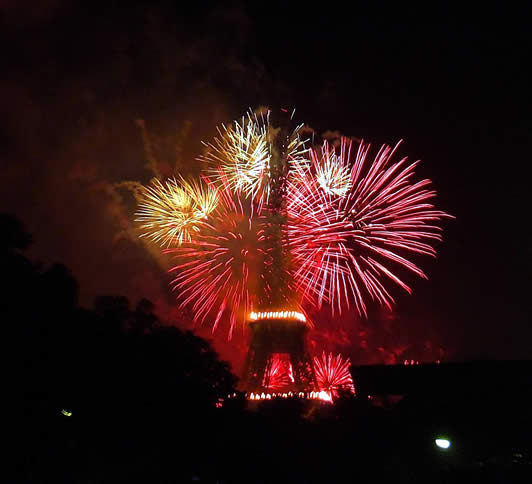 fuochi d'artificio per Capodanno a Parigi