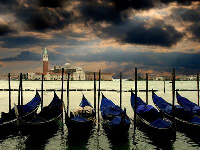 vista della laguna di venezia