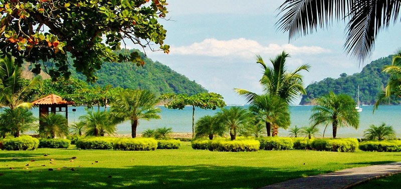 vista mare di villaggio in Costa Rica